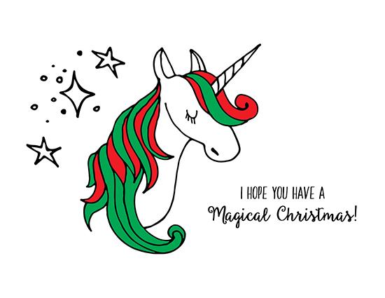 Magical Unicorn Christmas. Free Humor & Pranks eCards ...