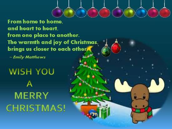 Heartfelt Christmas Greetings.