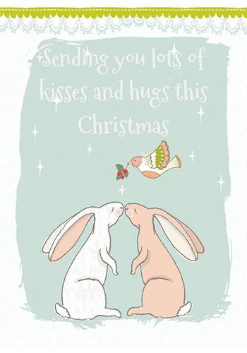 Send A Kiss & Hug Under The Mistletoe.