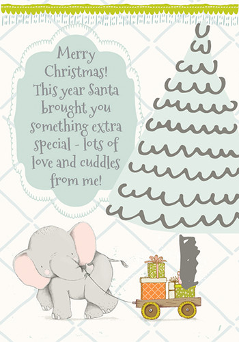 Love And Cuddles On Christmas.