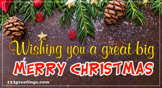 Wishing Merry Christmas!