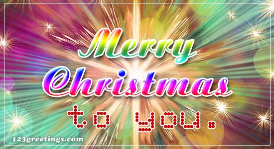 Merry Christmas To You.
