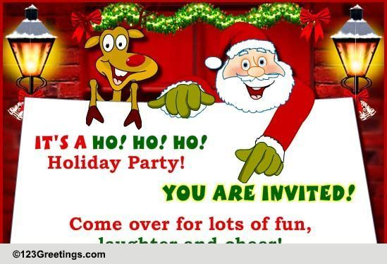 Christmas invitations cards free christmas invitations ecards 123
