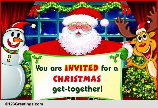 It's A Christmas Get-together! Free Invitations eCards ...