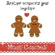 Merry Christmas Gingerbreads In Love.