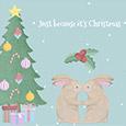 Secret Kiss Under The Mistletoe.