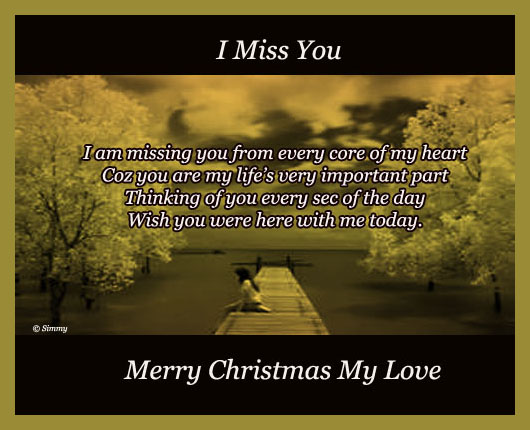 missing you on this christmas
