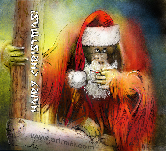 Image result for orangutan christmas greetings