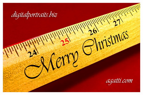 Christmas Ruler.