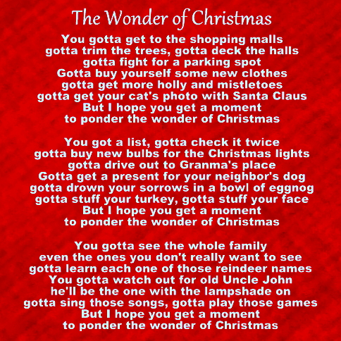 The Wonder Of Christmas.
