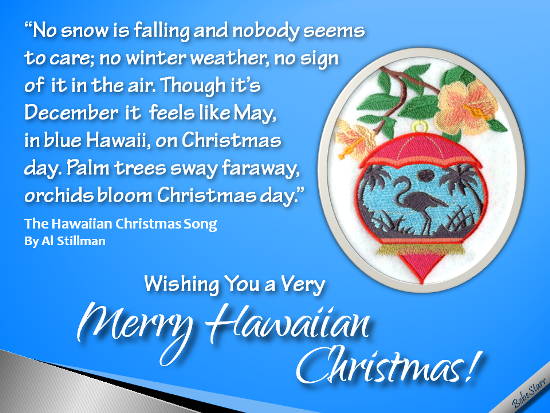 Hawaiian Christmas Song.