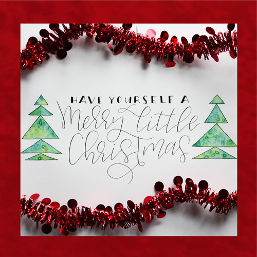 A Merry Little Christmas Card.