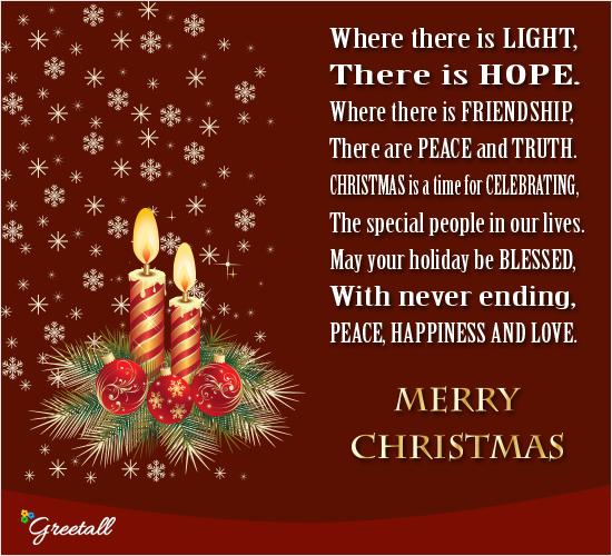 Light Of Christmas.May The Light Of Christmas Free Merry Christmas Wishes
