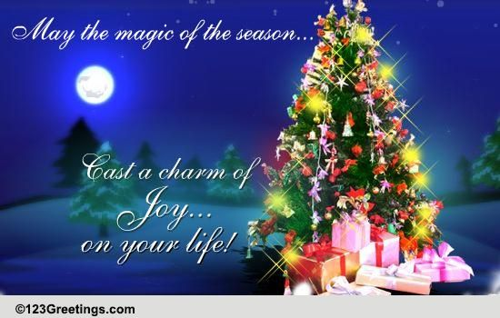 Magic Of Christmas Free Merry Christmas Wishes Ecards Greeting Cards 123 Greetings