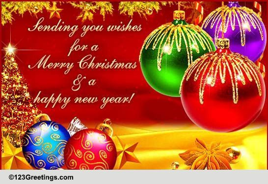 Merry Christmas & Happy New Year! Free Merry Christmas Wishes eCards ...