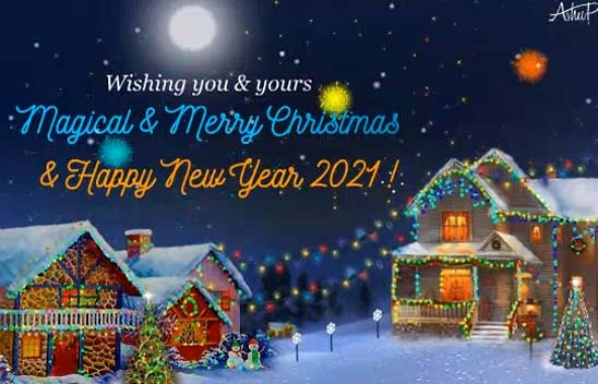 50 Beautiful Merry Christmas And Happy New Year Pictures: Magical Christmas & New Year. Free Merry Christmas Wishes
