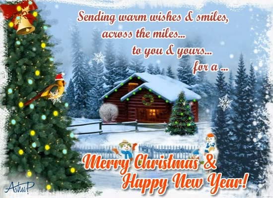 close in thought across the miles free merry christmas
