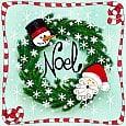Vintage Style, Retro Noel Wreath.