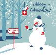 Snowman Greeting.