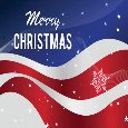 Patriotic Christmas Wishes With Flag.