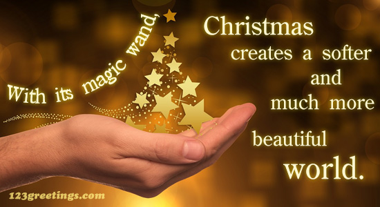 christmas magic wand  free merry christmas quotes ecards