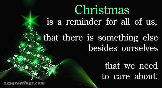Christmas Reminder!