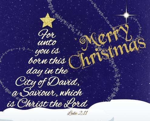 Religious Christmas.Luke 2 11 Christmas Blessing Free Religious Blessings