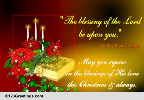 Rejoice In His Blessings On Christmas! Free Religious Blessings eCards  123 ...
