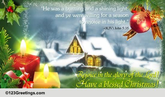 have a blessed christmas free religious blessings ecards 123 greetings - Have A Blessed Christmas
