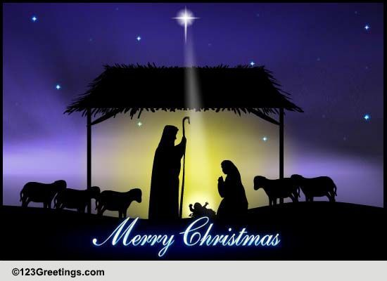 Religious Merry Christmas Images.Christmas Holy Night Free Religious Blessings Ecards