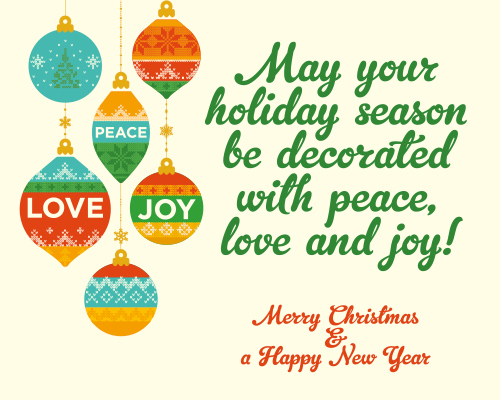 Wishing You Peace, Love & Joy. Free Spirit of Christmas eCards | 123 ...