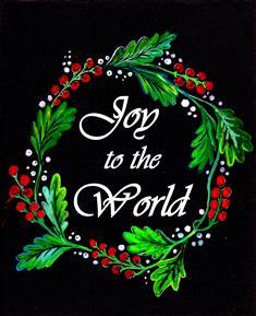 Joy To The World Black Card.