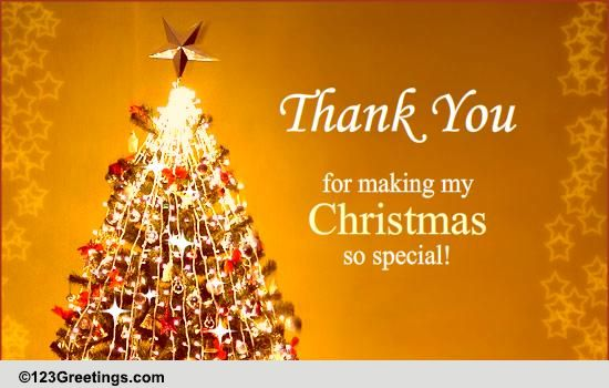 christmas thank you  free thank you ecards  greeting cards