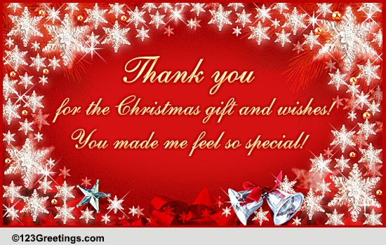 Thank You For Christmas... Free Thank You eCards, Greeting ...