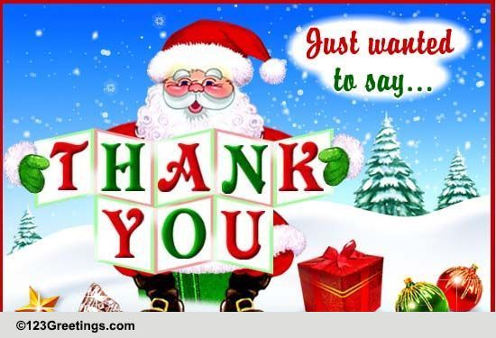 Free Christmas Thank You Notes | Search Results