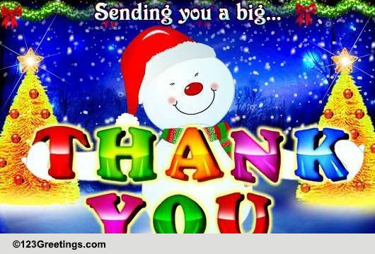 merry christmas thank you cards