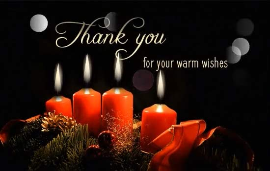 candle light warm thank you wishes  free thank you ecards