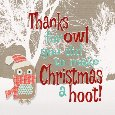 Thanks For Making Christmas A Hoot!