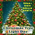 A Christmas Tree Light Day Ecard.