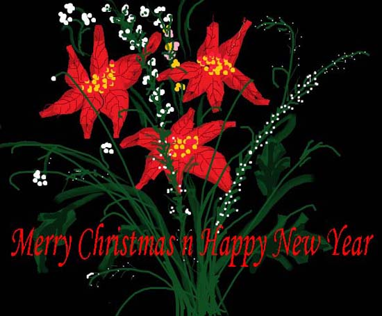 Christmas And New Year Greeting.