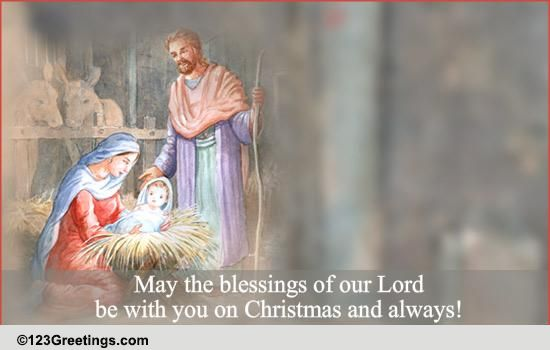 English Christmas Carol Blessing. Free English eCards ...