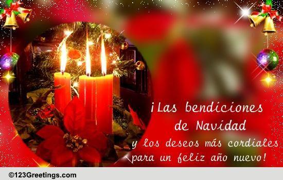 Christmas Wishes In Spanish.Las Bendiciones De Navidad Free Spanish Ecards Greeting