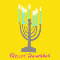Home : Events : Hanukkah 2020 [Dec 10 - 18] : Religious Blessings - Blessed Hanukkah Yellow Greeting Cards.