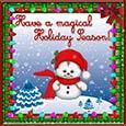 Magical Season Snowman.