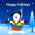 Snowman Holiday Card.