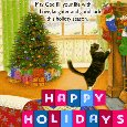 A Nice And Cute Happy Holiday Ecard.