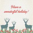 Holiday Reindeers.