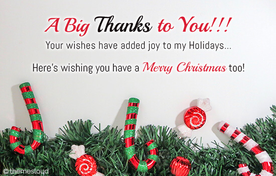 Happy Holidays And Thanks To All >> Your Wishes Added Joy To My Holidays Free Holiday Thank You