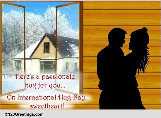 Passionate Hug For Sweetheart Free International Hug Day