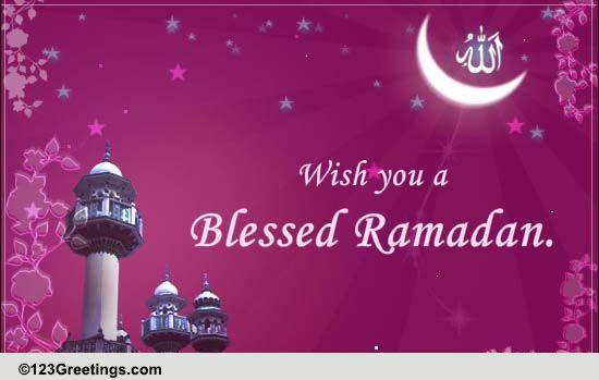 ... Bless You On Ramadan. Free Ramadan Mubarak eCards | 123 Greetings